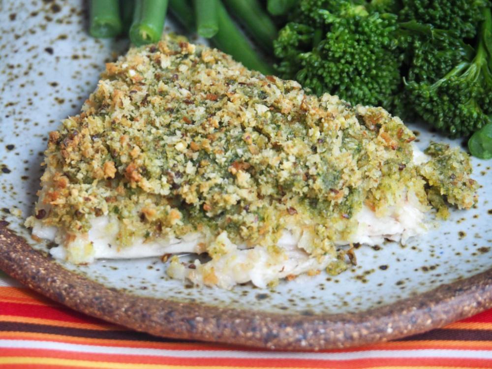 4 ingredient pesto fish