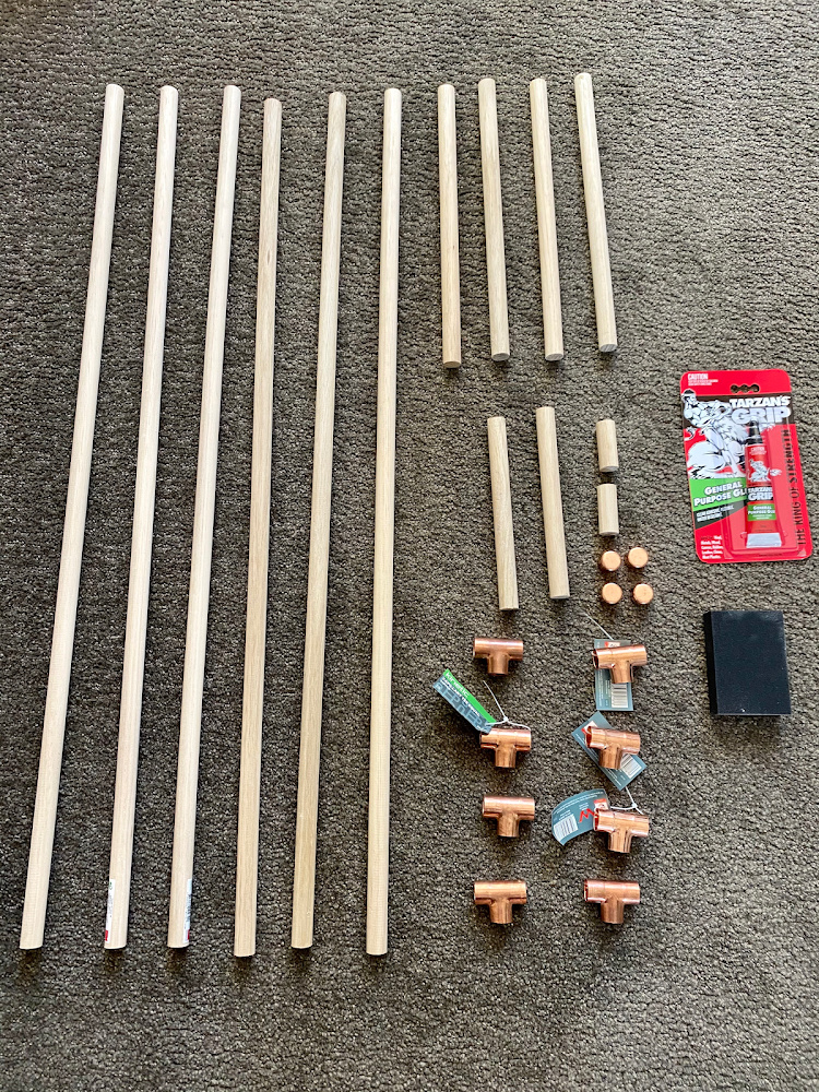 diy dog accessory ladder equipment dowel and copper tees