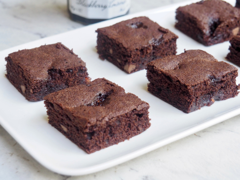 jam puddle brownies on plate