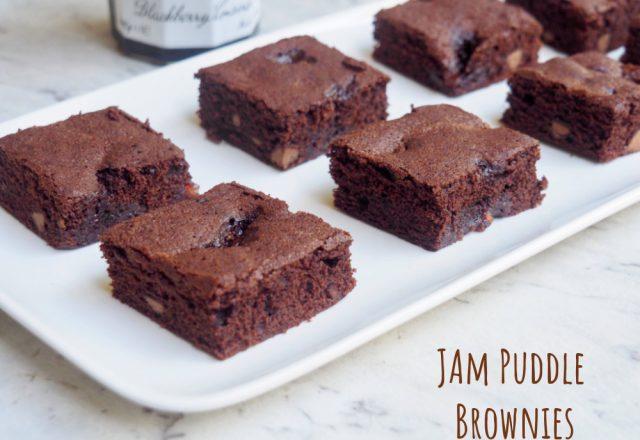 Jam Puddle Brownies