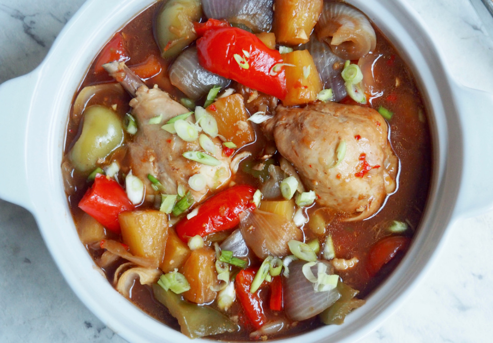 slow cooker sweet and sour chicken from above