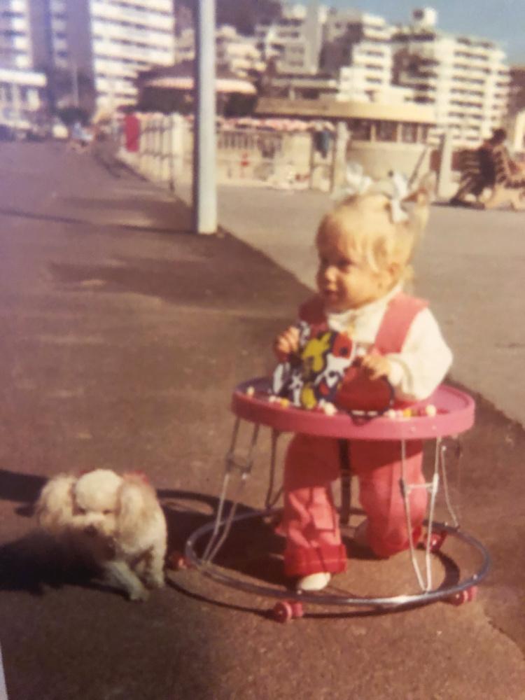 toddler in baby walker