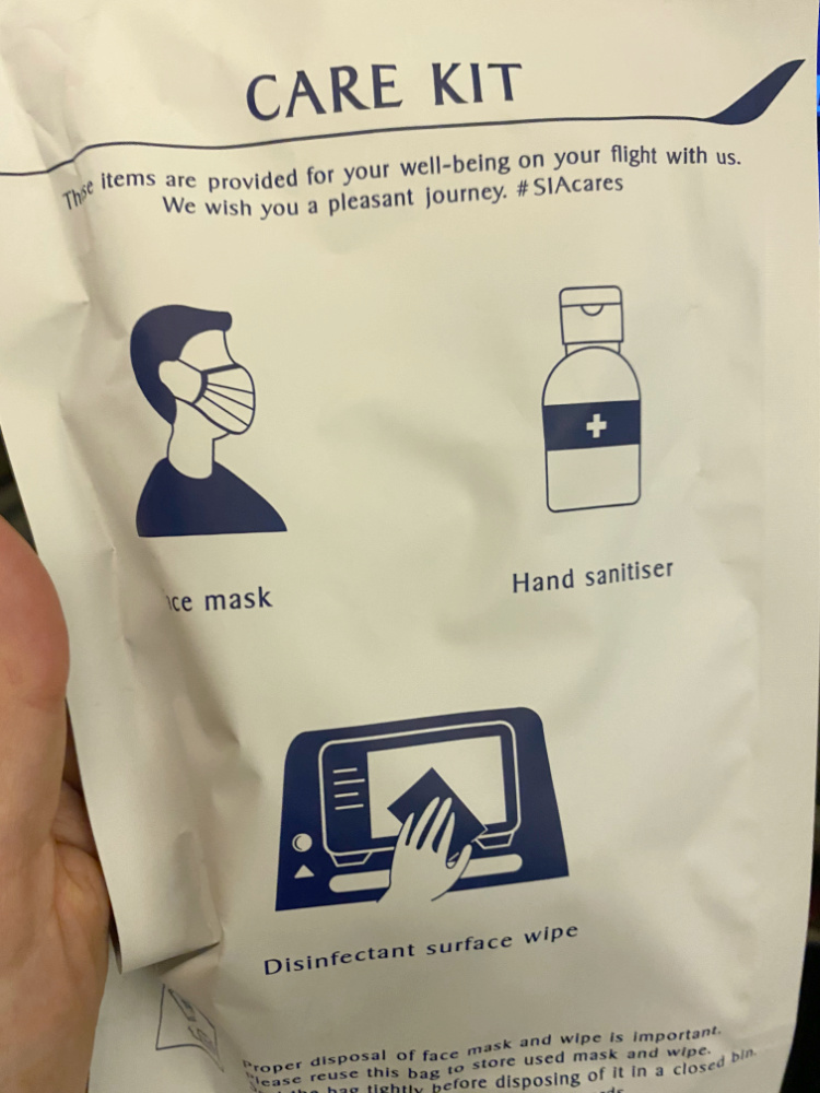 amenity kit singapore airlines 2021