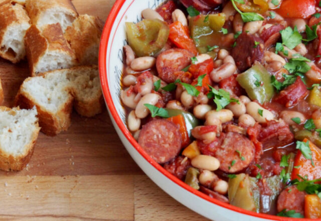 Slow Cooker Chorizo and Bean Stew