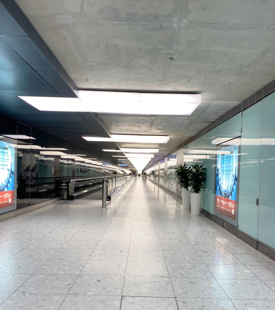 empty Heathrow Airport