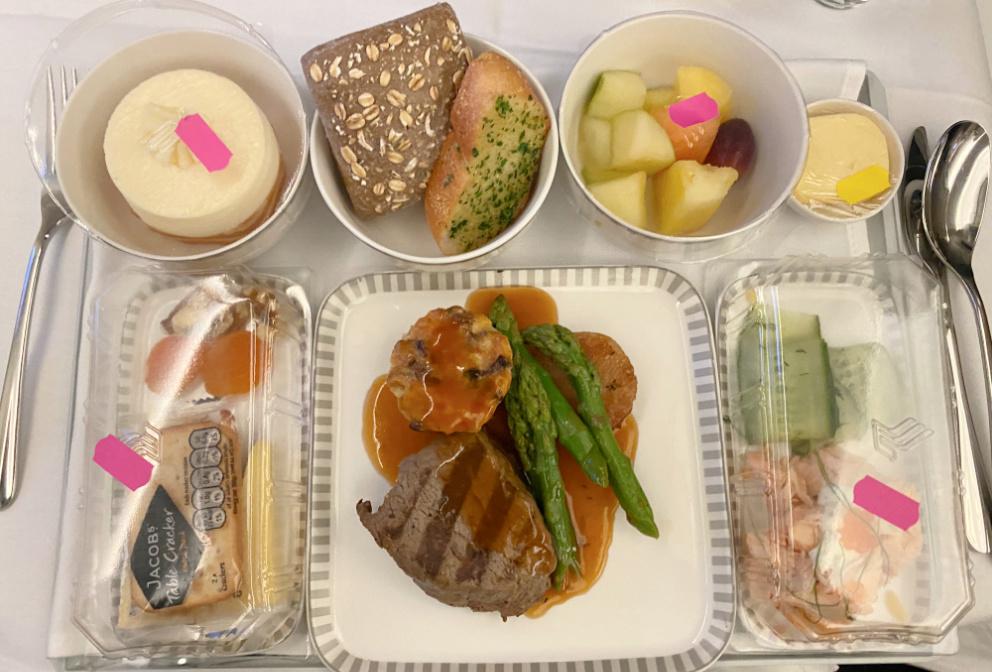 beef tenderloin singapore airlines