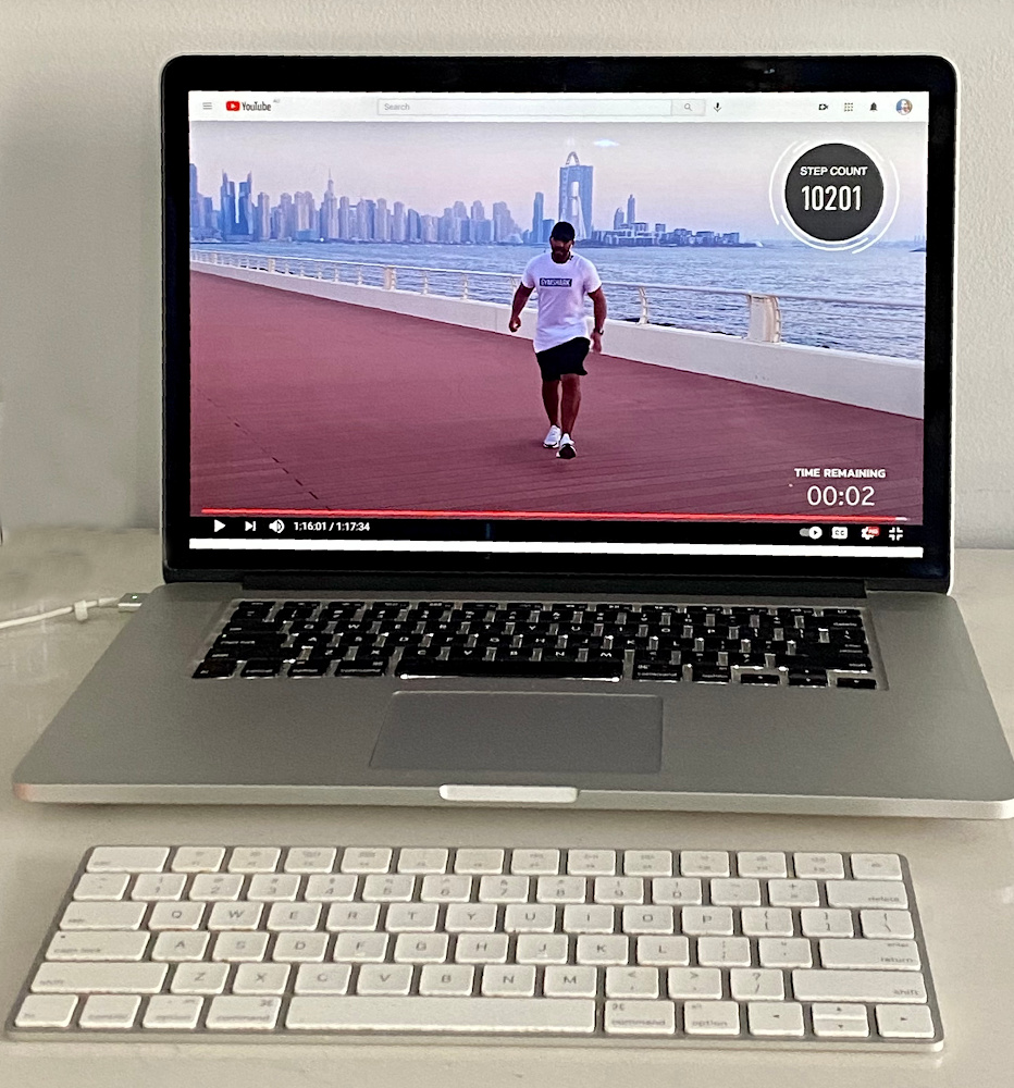 get fit with rick on computer screen