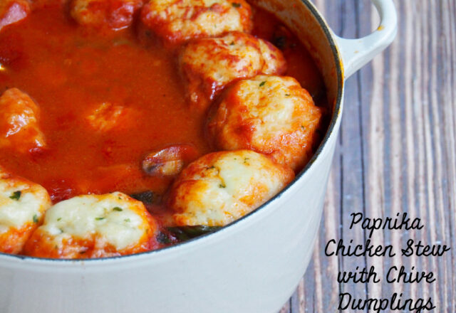 Anne's Paprika Chicken Stew with Chive Dumplings