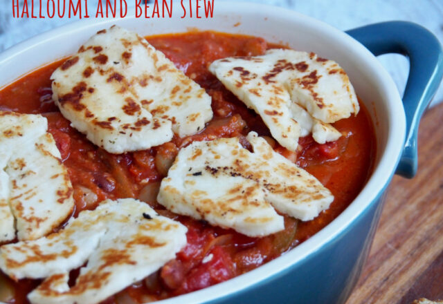 Meatless Monday – Halloumi and Bean Stew