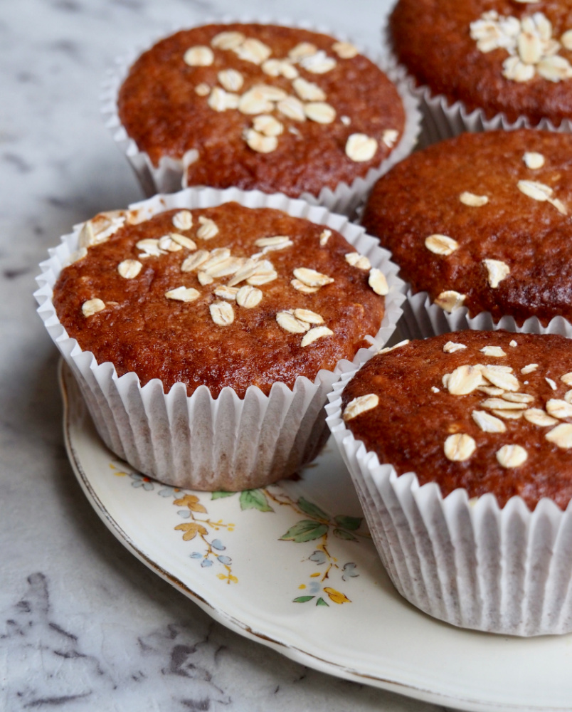 marmalade muffins on a plate