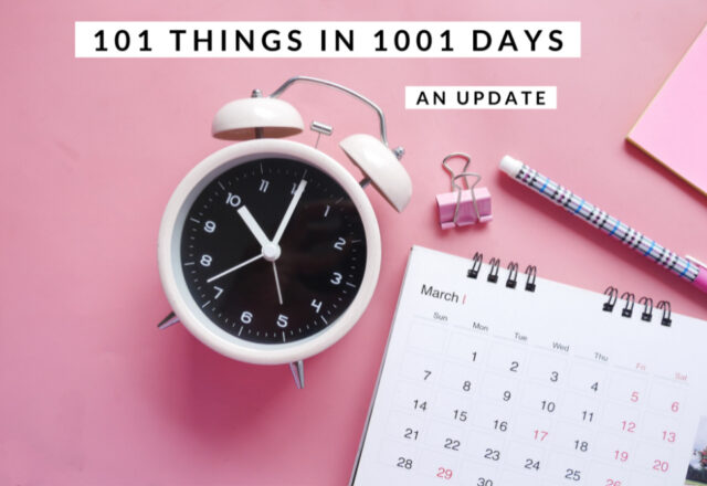 101 Things in 1001 Days V3 – An Update