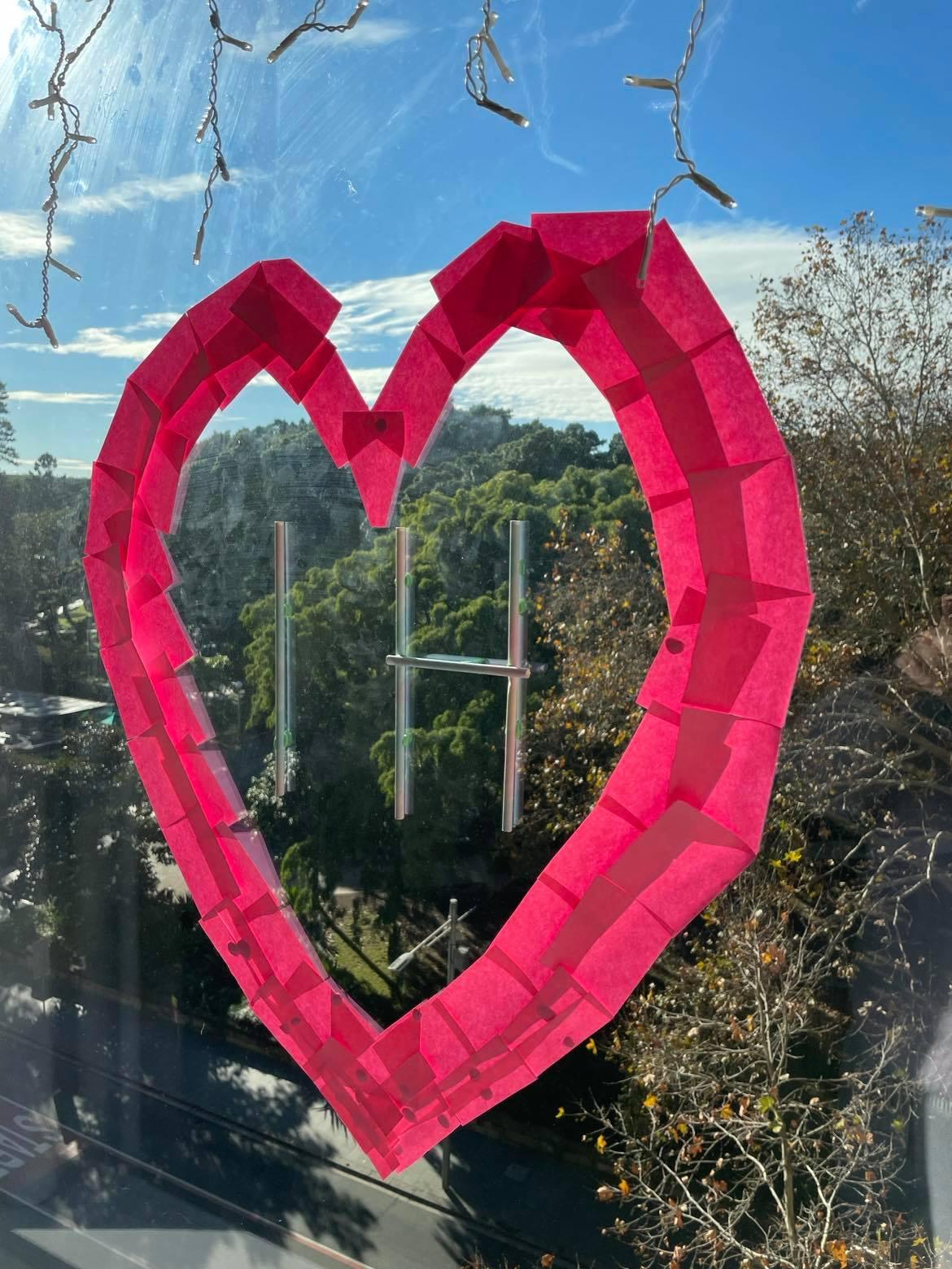 heart shape on window