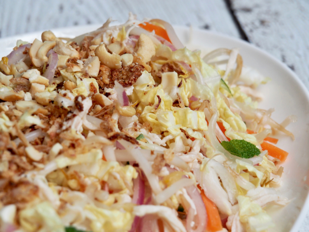 Asian Style Chicken Salad side view