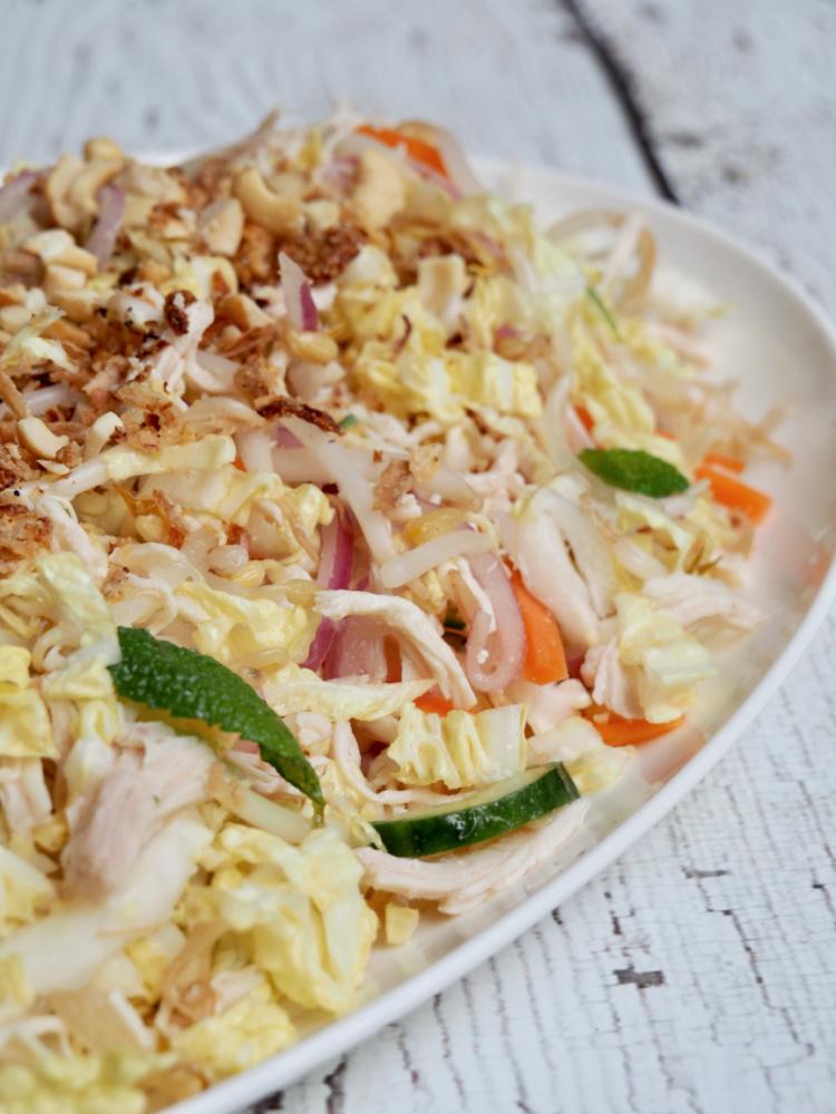 Asian Style Chicken Salad on platter