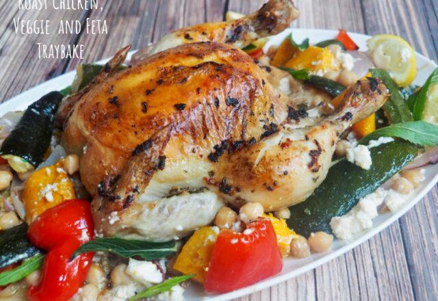 Roast Chicken, Veggie and Feta Traybake